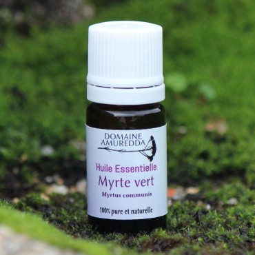 Huile essentielle myrte vert bio corse Domaine Amuredda