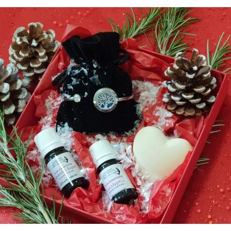 Coffret Noël avec bracelet-diffuseur d'huile essentielle