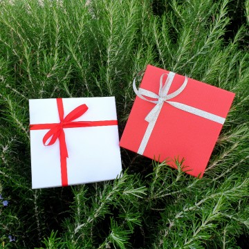 Emballage cadeau boite 15x15x4