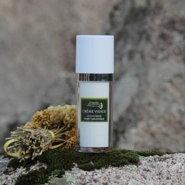 Crème visage à l'huile essentielle d'Immortelle bio et à l'acide hyaluronique Domaine Amuredda