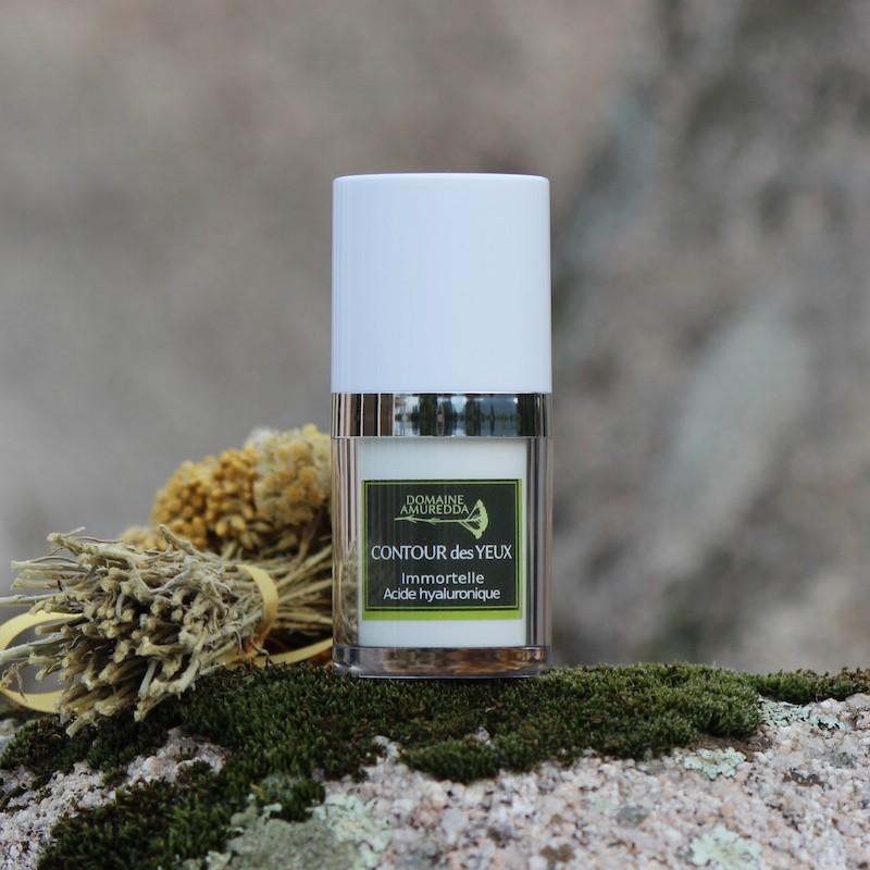 Crème contour des yeux à l'huile essentielle d'Immortelle bio corse et à l'acide hyaluronique Domaine Amuredda